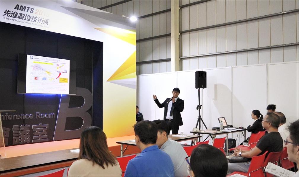 來自訊達科技葉峻銘經理以汽車生產線為例,分享了在實際運用中如何智能化管理。