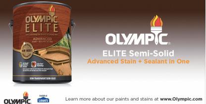 Olympic Elite高级着色剂经久耐用,并具有高水平的保护作用,可抵御阳光和水的破坏作用,同时提供防霉和抗藻类的涂层。